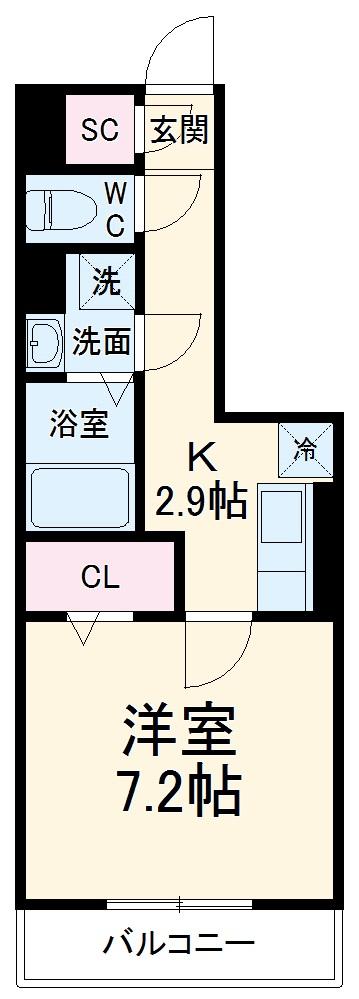 GRAND D-room豊田月見 305号室の間取り