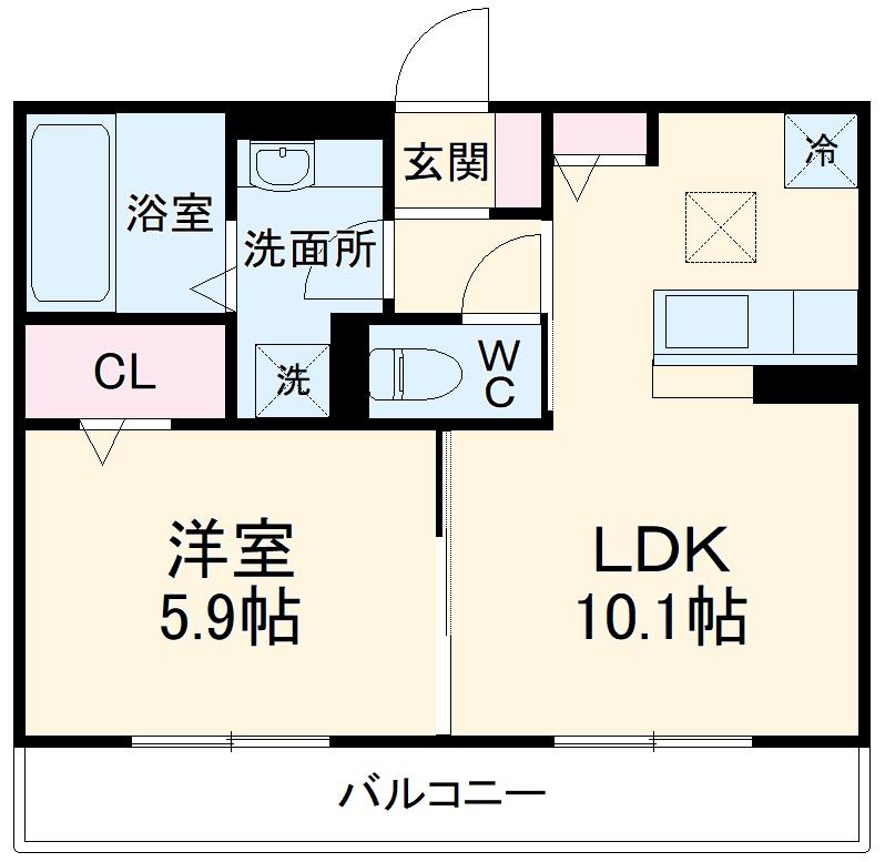 (仮称)D-room豊田市東新町4丁目 103号室の間取り