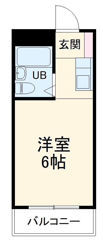 シティハウスナガサキ 206号室の間取り