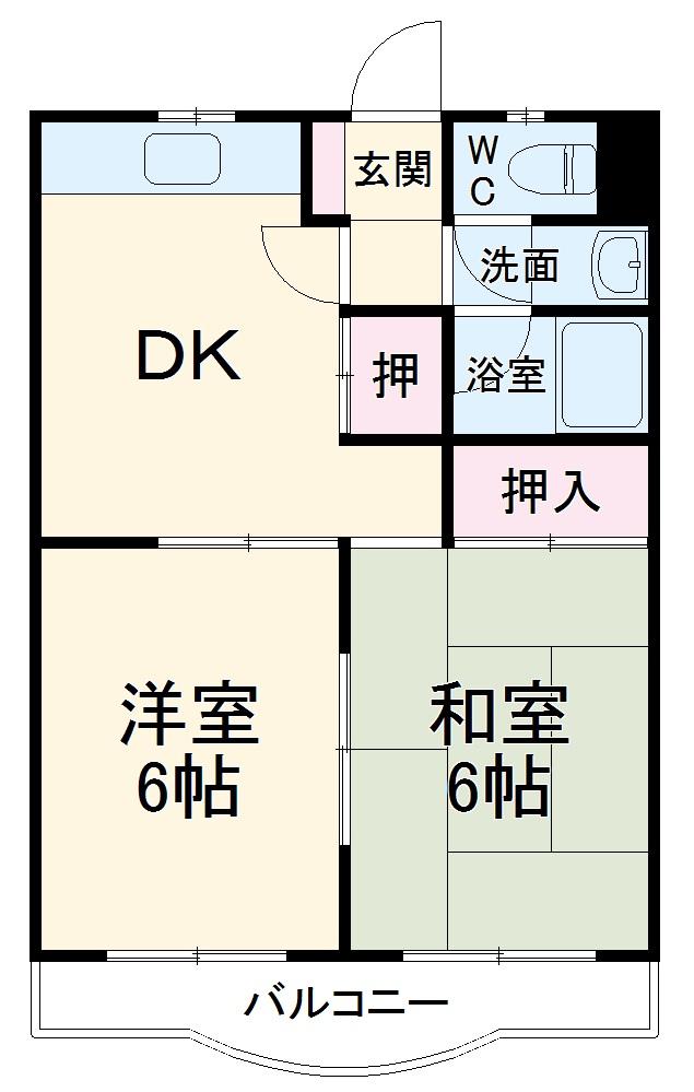 メゾンド栄Ⅱ 3-B号室の間取り