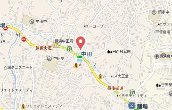トレス中田 04020号室の地図