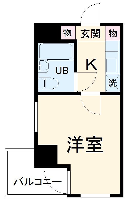 トップ横浜蒔田 301号室の間取り