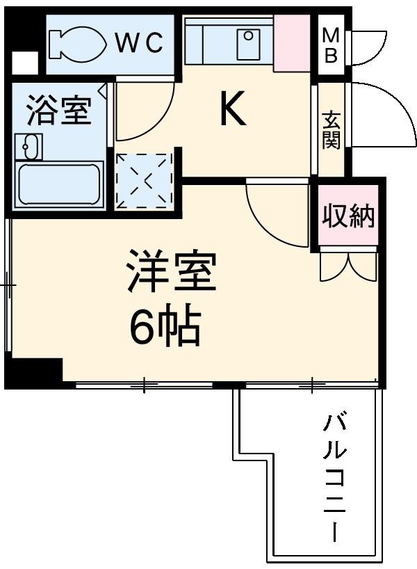 ヴェルステージ蒲田・304号室の間取り