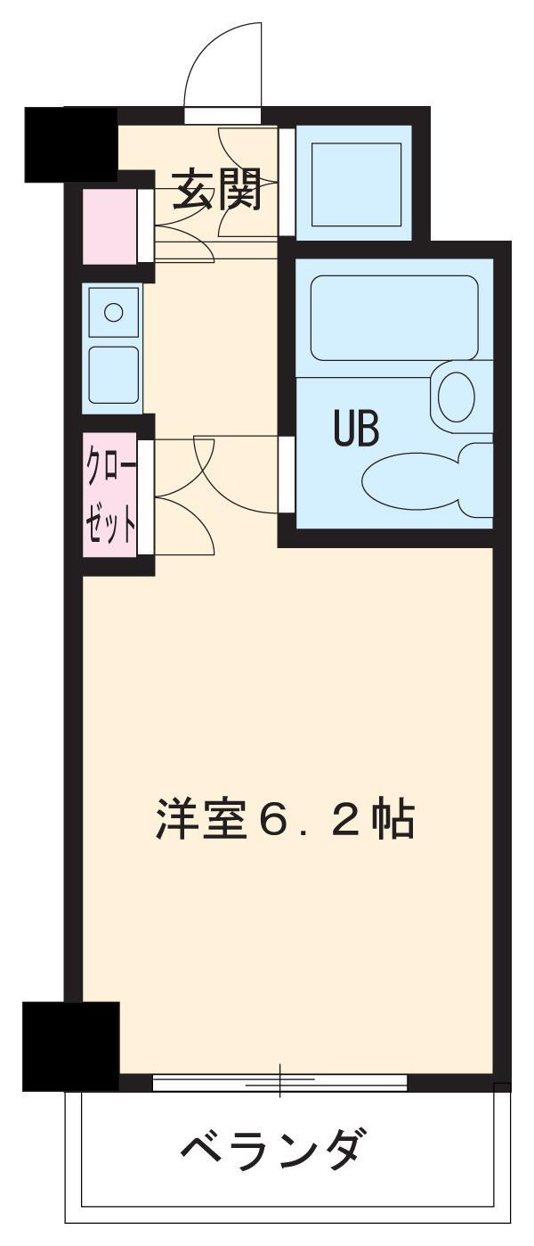 朝日プラザ名古屋ターミナルスクエア 513号室の間取り