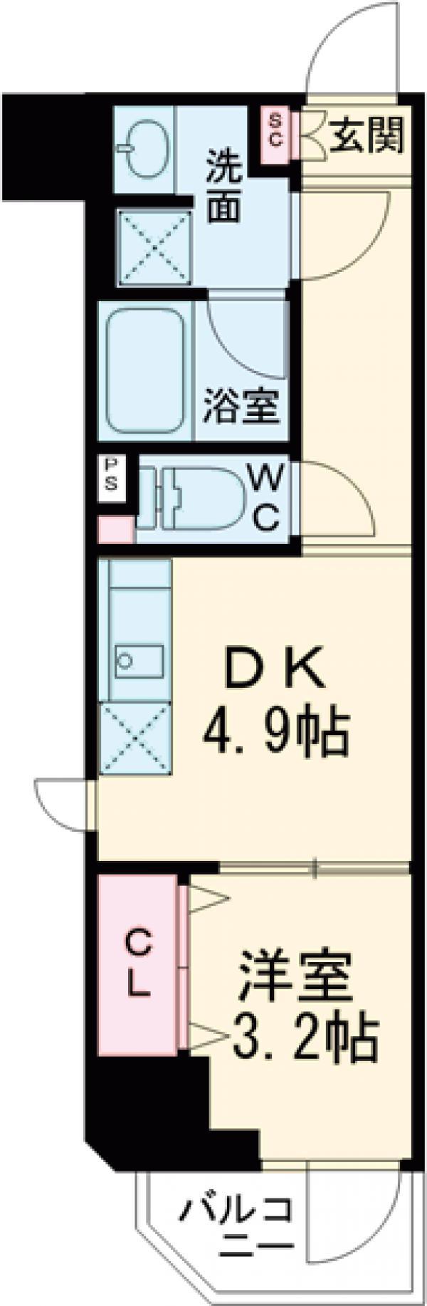 プレセダンヒルズ文京本駒込 701号室の間取り
