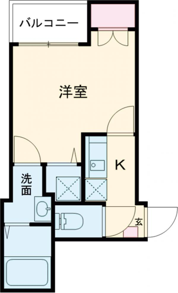 フォレシア鎌倉・304号室の間取り