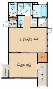アドレー渋谷本町アネックス A102号室の間取り