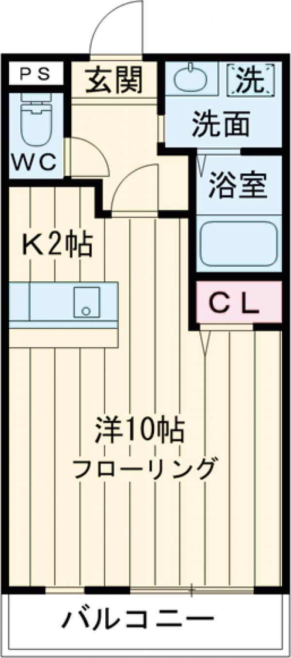エターナル 303号室の間取り