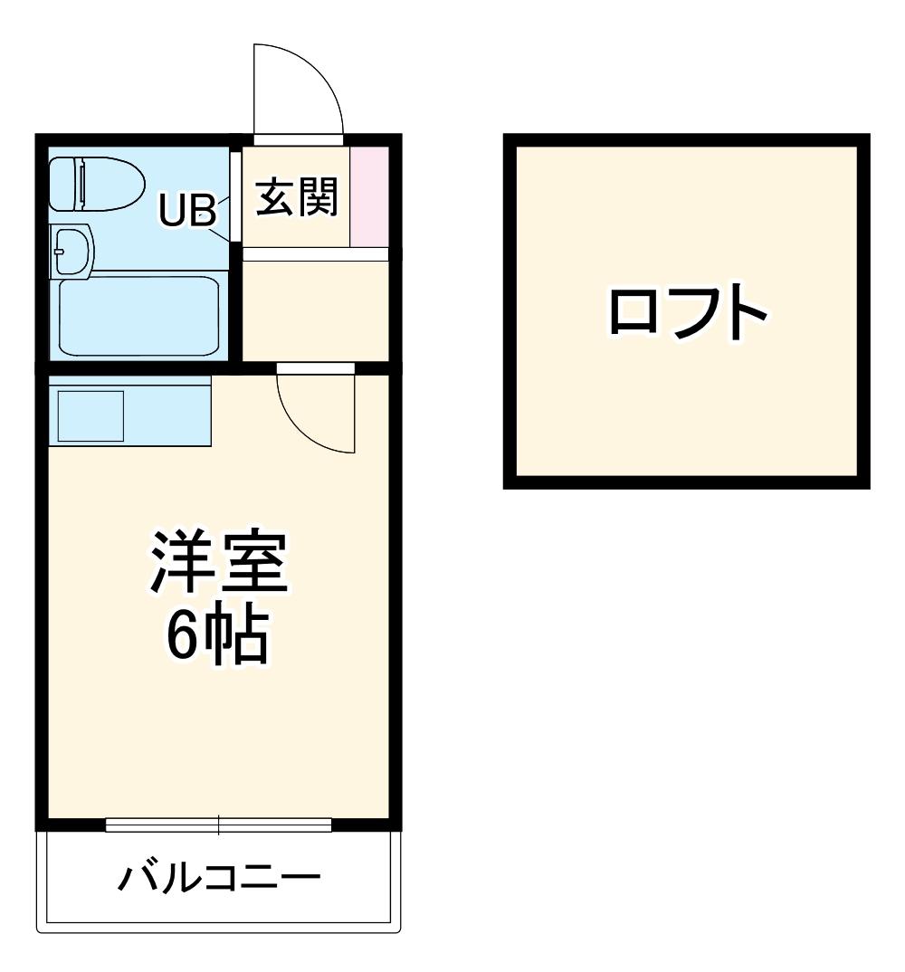 ミカサ富士見第一 103号室の間取り