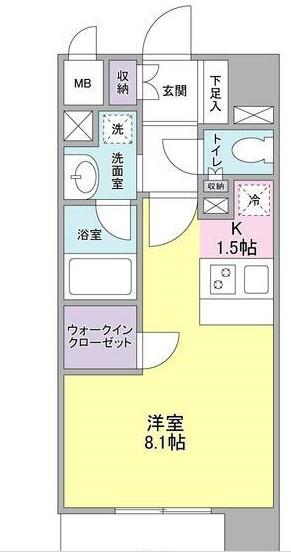 ディアレンス横濱沢渡  403号室の間取り