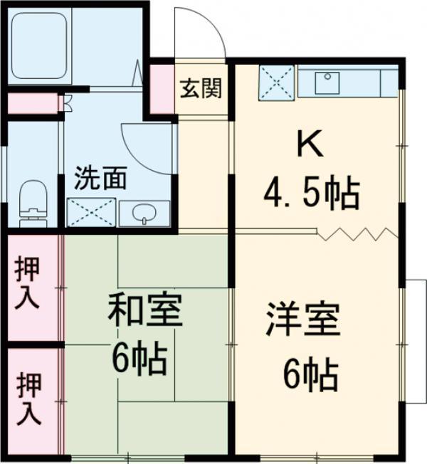 川島ビル 302号室の間取り