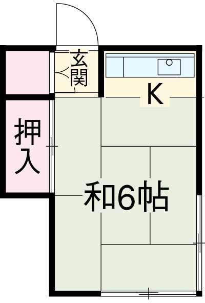 三橋トヨ子アパート・1-6号室の間取り