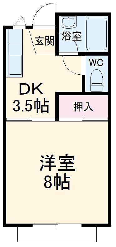ドミールヨシダ・203号室の間取り