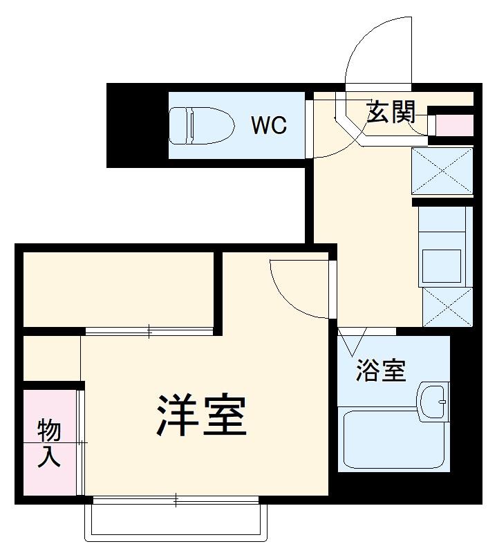 レオパレスSUZUKIⅡ・103号室の間取り