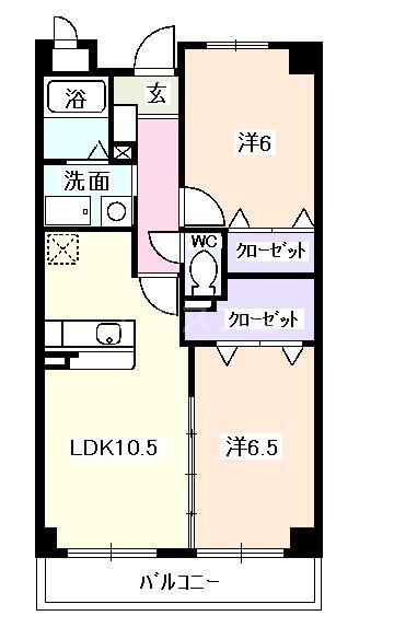 クラシオン Ⅰ・06030号室の間取り