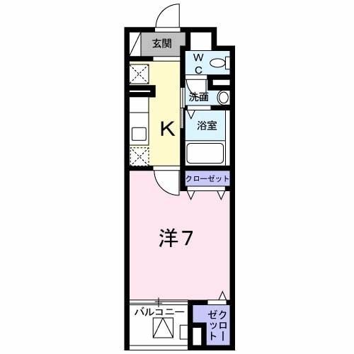 レシデンシア SK・04020号室の間取り