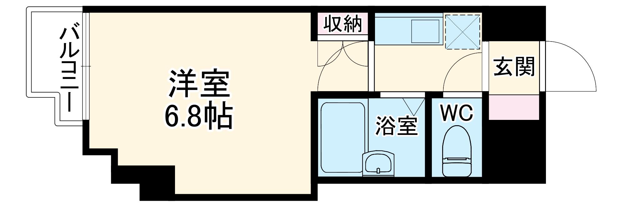 SKYマンション八田 802号室の間取り