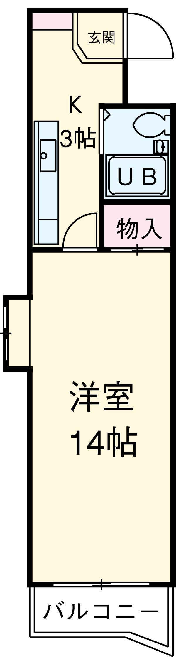 シティアーク熱田・3A号室の間取り