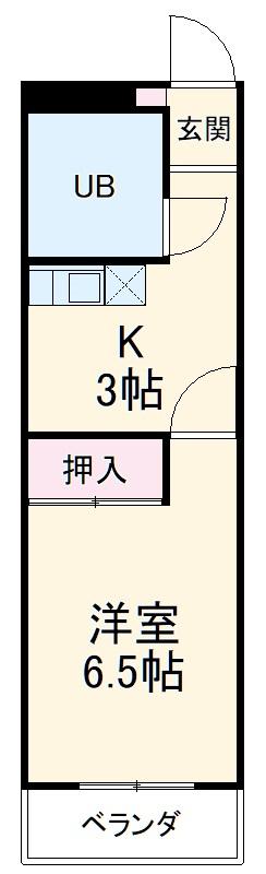 岐阜キャッスルビルA棟・1102号室の間取り