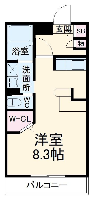 ZCO並木ビル2ND・305号室の間取り