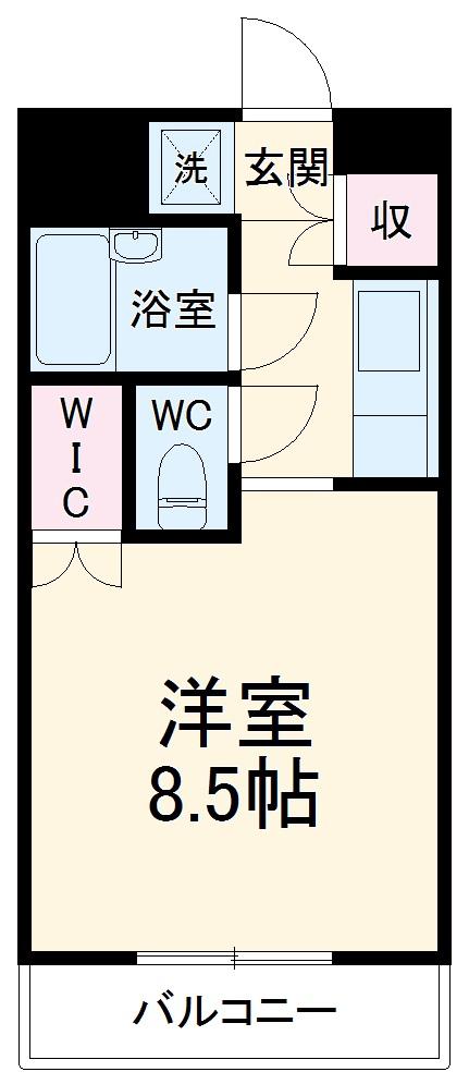 戸田公園ステイタス・307号室の間取り