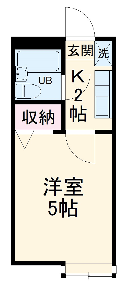 エミグラント北戸田Ⅲ・102号室の間取り