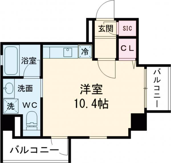 SYNEX SHINAGAWA-EBARA・1004号室の間取り