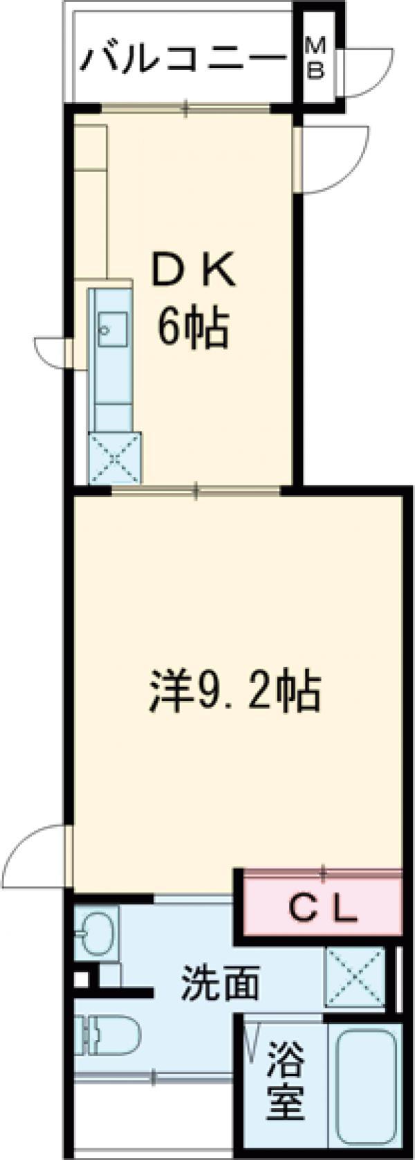 モアナ ハウス・02020号室の間取り