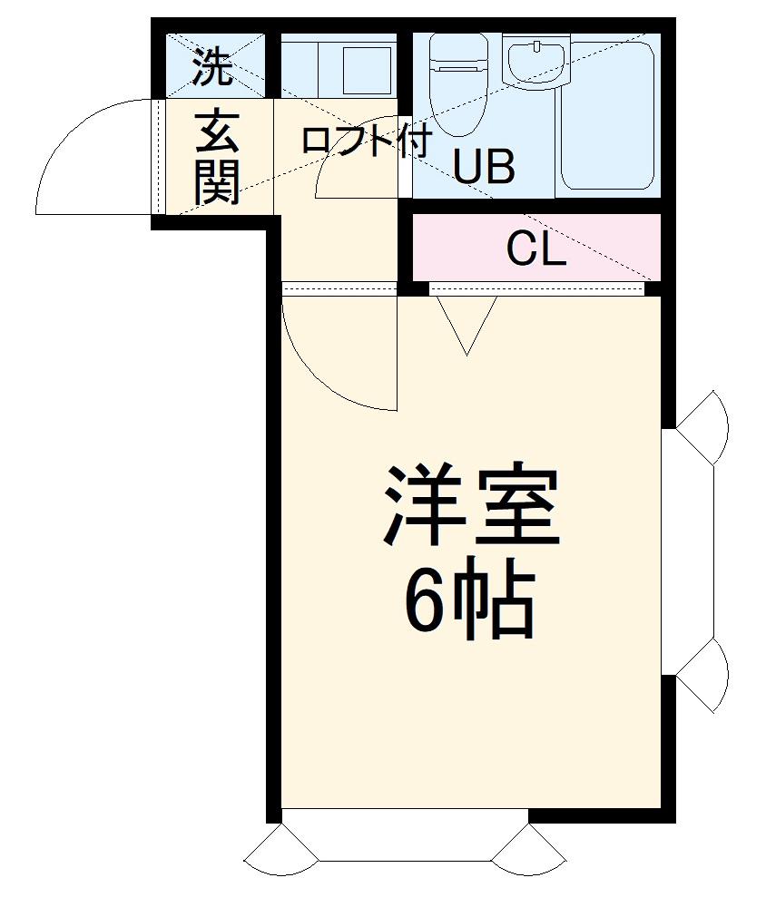ローズアパートB9番館・201号室の間取り