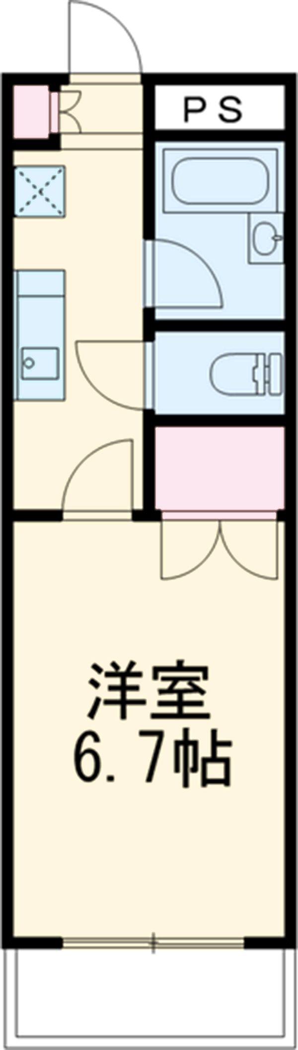 リバーストーン 1-203号室間取り図