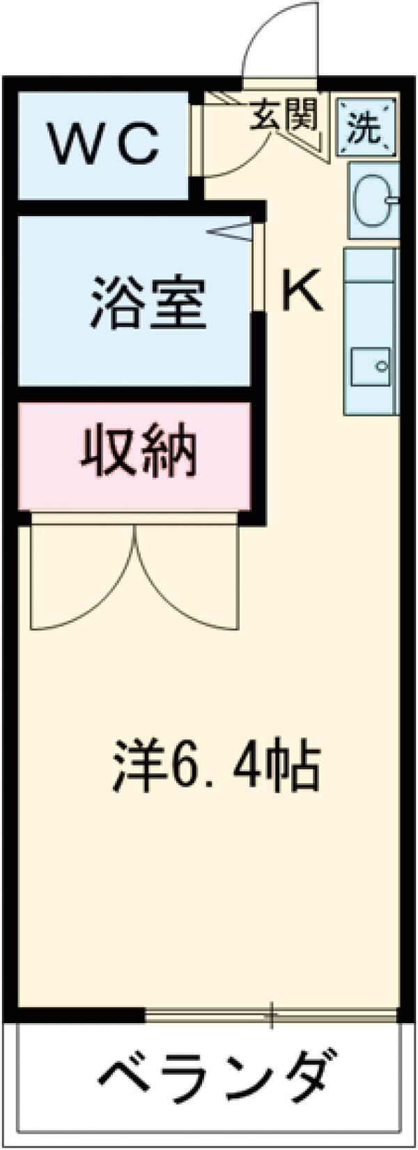 エスコート戸田公園・203号室の間取り