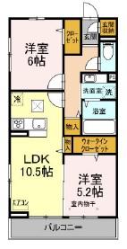 仮)Dーroom小室町・106号室の間取り