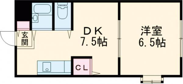 プラットホーム総持寺駅前 107号室の間取り