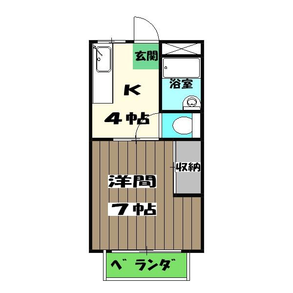 フォーレス嵐山・203号室の間取り