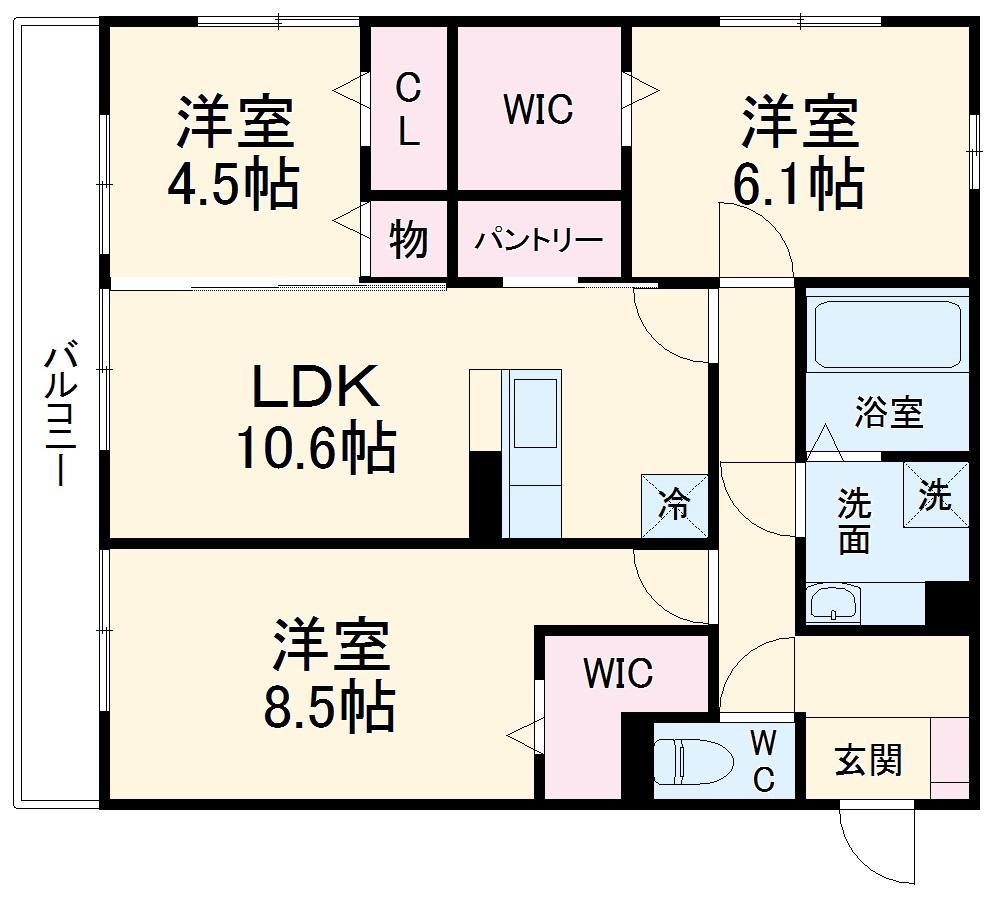 仮)D-room篠木町1丁目 201号室の間取り