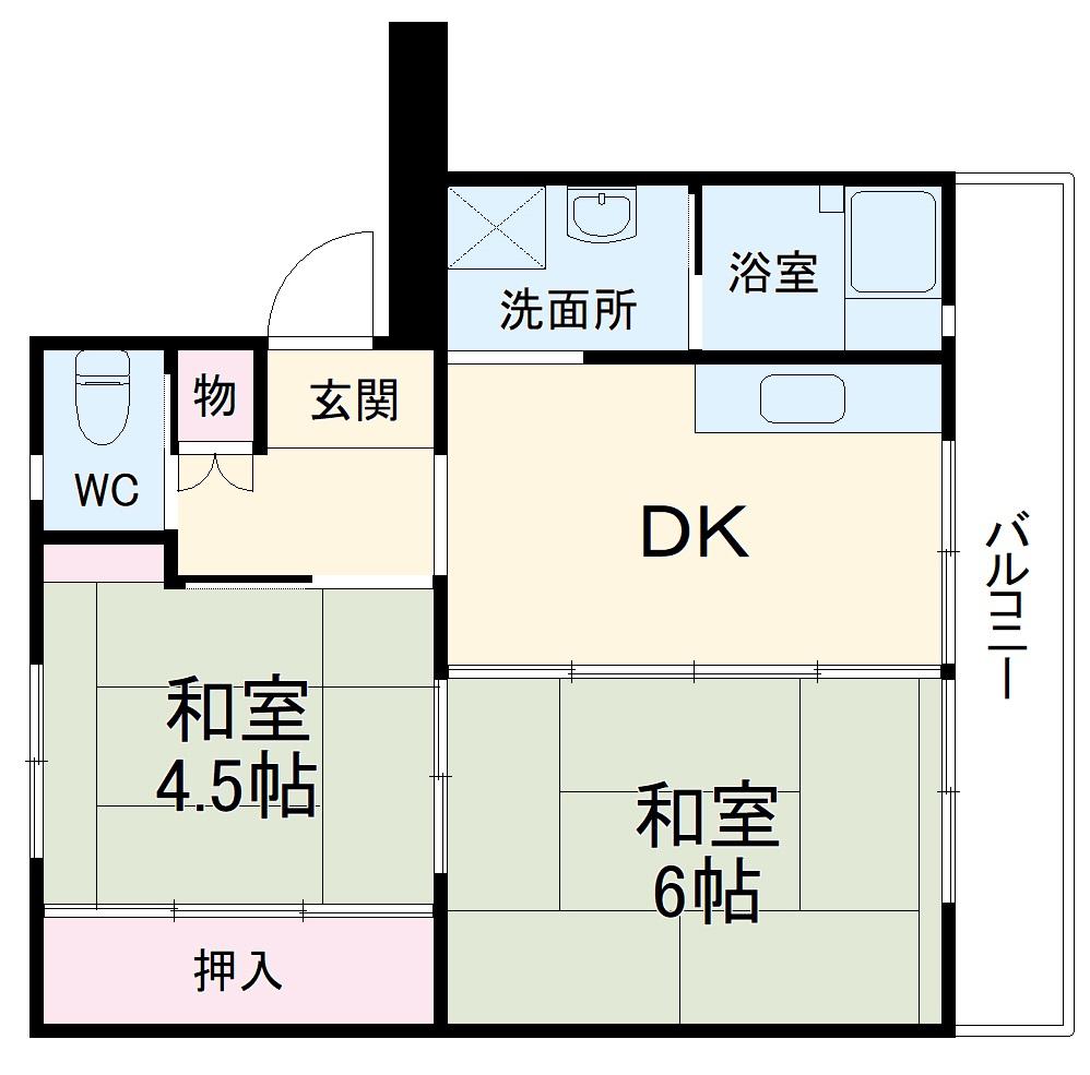 ビレッジハウス成田4号棟・304号室の間取り