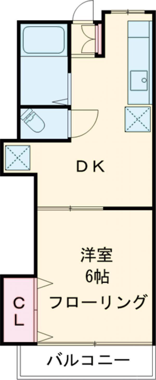 第二吉野荘・103号室の間取り
