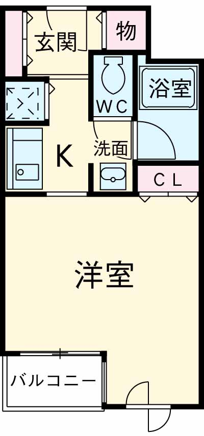 コンフォート荻窪・214号室の間取り