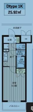 レオーネ高島平・401号室の間取り