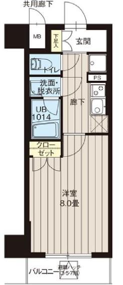 レオーネ高島平・404号室の間取り