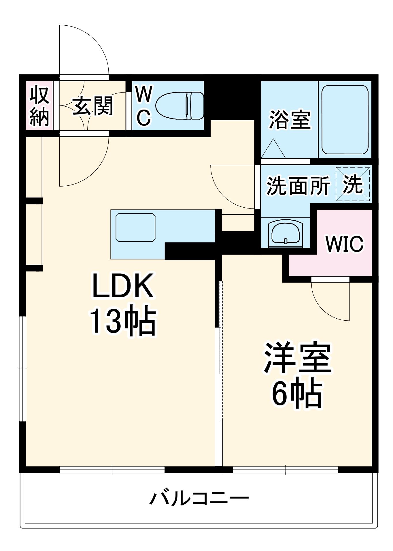 レナトゥス松城 405号室の間取り