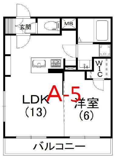 レナトゥス松城 501号室の間取り