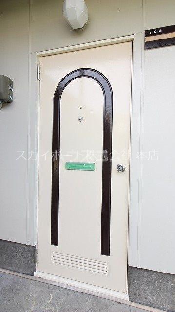 ハイツマルミB 102号室の玄関
