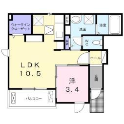 トレーノ鎌倉・01010号室の間取り