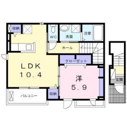 トレーノ鎌倉・02010号室の間取り