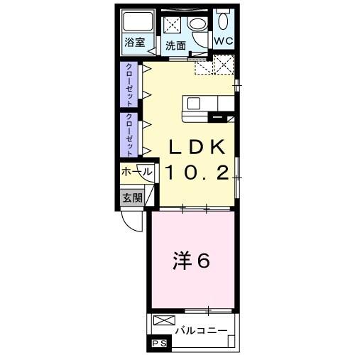 アリエッタ鎌倉 02020号室の間取り