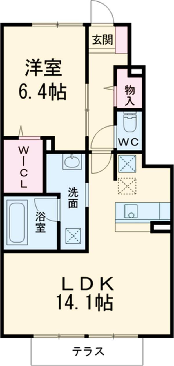 D-room杏・102号室の間取り