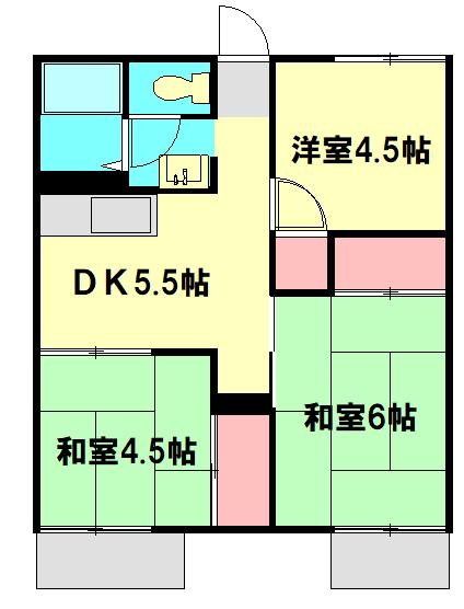 湘光ハイツ・103号室の間取り