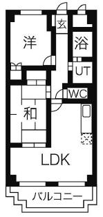 第一吉田マンション・302号室の間取り