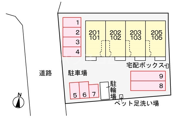 メゾン ド エスポワール 02020号室の駐車場